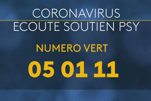 Coronavirus cellule écoute et soutien psychologique