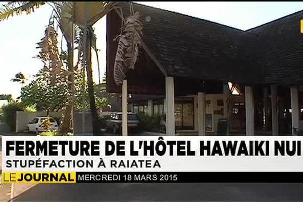 Coup dur pour l'hôtellerie de Raiatea