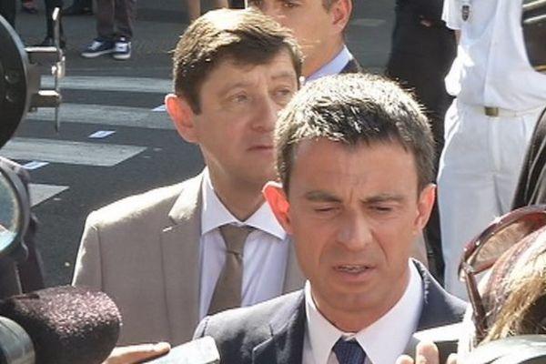 Manuel Valls à Saint-Denis