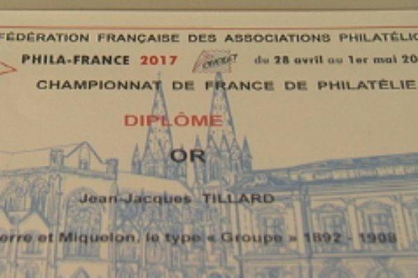 Médaille d'or au championnat de France de philatélie à Cholet