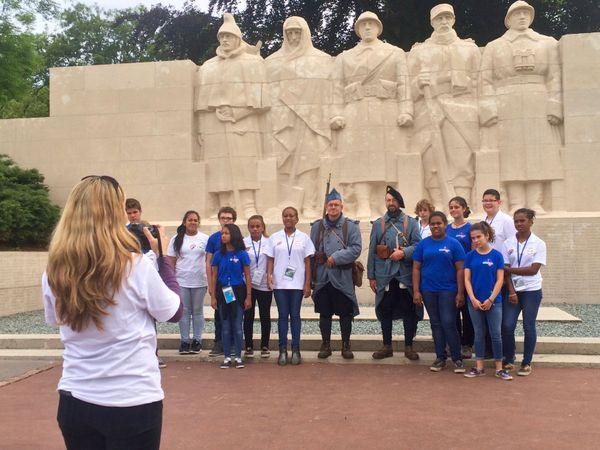 Des collégiens calédoniens à Verdun