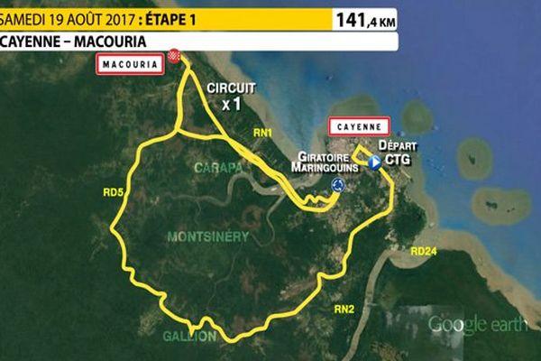 Le profil de la 1ère étape Cayenne-Macouria