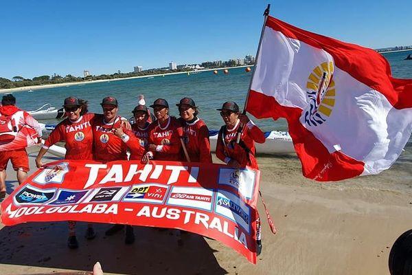 L'équipe vétéran dame, première médaille d'or pour Tahiti
