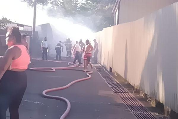 incendie arue