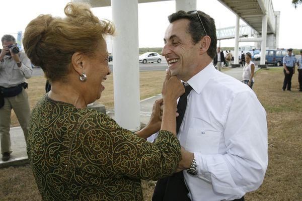 Michaux-Chevry et Sarkozy