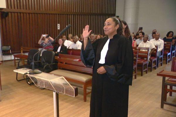 Estelle Sitrita, première femme huissier de justice, 21 janvier 2020