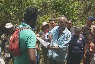 Délimitation de terres à Goyave