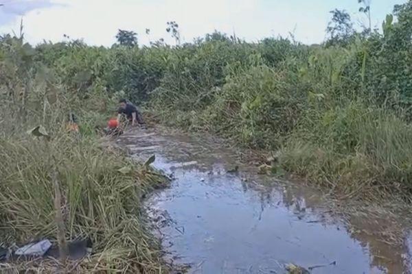 Une personne recherchée dans un marais à Mana après un accident
