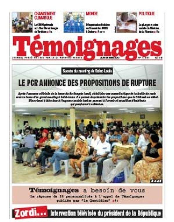 Témoignages, la Réunion, du 28 mars 2013