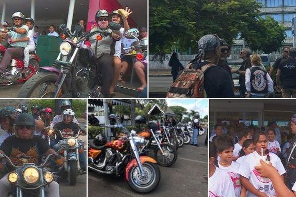Les «100 motos de l'amitié» à Pirae