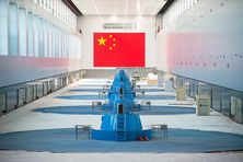 La centrale électrique de Ychang Xiaoting en Chine, à proximité du Barrage des Trois-Gorges