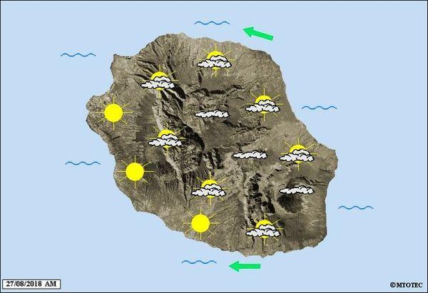 Carte météo du 27 août 2018