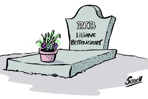 Le dessin de Souch : Décès de Liliane Bettencourt