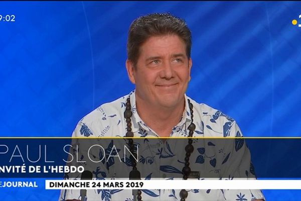 Paul Sloan, le directeur général du groupent d'intérêt économique Tahiti Tourisme était l'invité du journal télévisé ce soir.