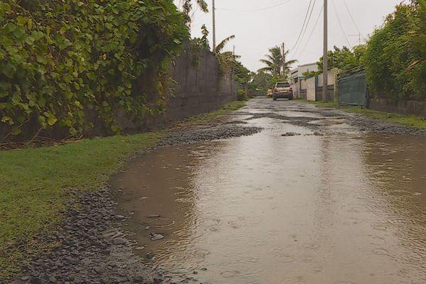 forte pluie à tahiti