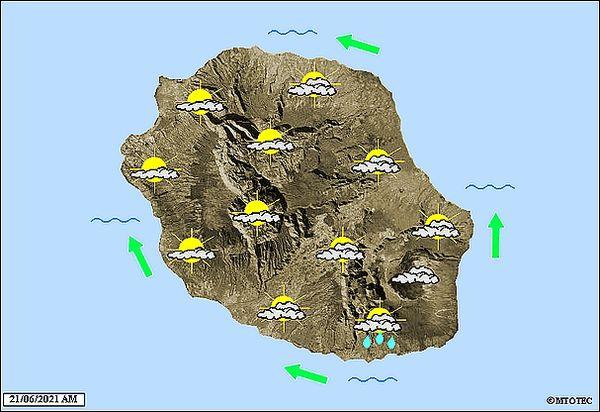 Carte météo 21 juin 2021