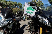 Les motards de La Réunion se mobilisent, ce jeudi 25 février.