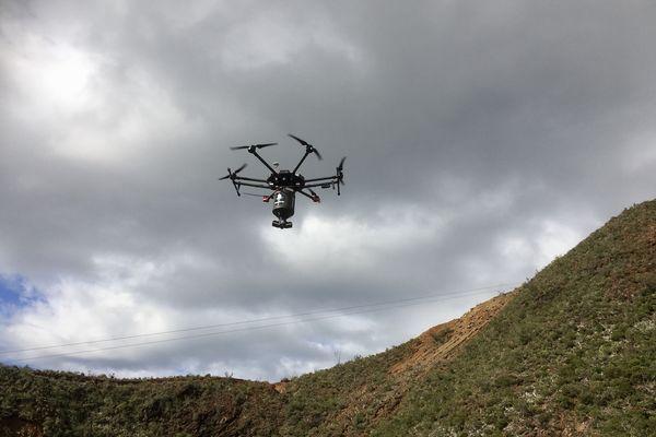 drone revégétalisation au mont dore