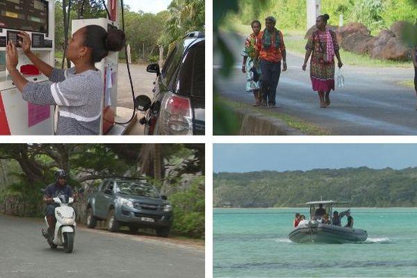 Mosaïque restriction de carburants à l'île des Pins