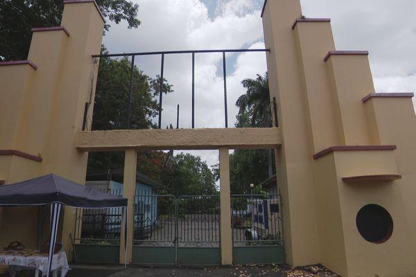 L'entrée du parc Aimé Césaire