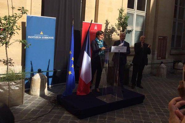 Annick Girardin à la Sorbonne le 23 mai