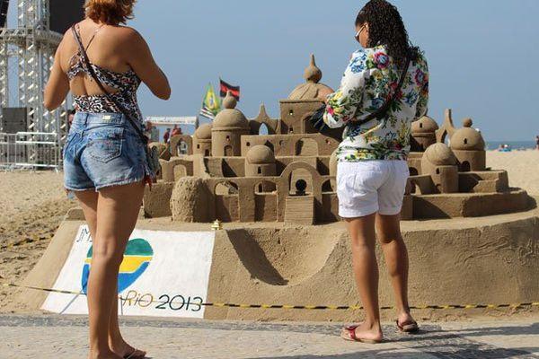 Sur la plage de Copacabana