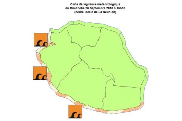 Carte de houle du 24 septembre 2018