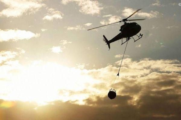 Incendie au Grand-Brûlé : incident sur un hélicoptère bombardier d'eau