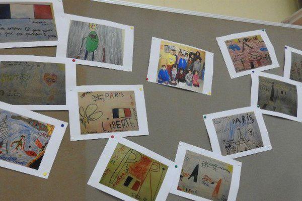 Les élèves de CE2 de l'an dernier avaient souhaité s'exprimer à travers des dessins