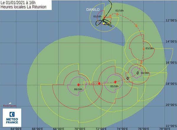 danilo tempête tropicale modérée 16h 010121
