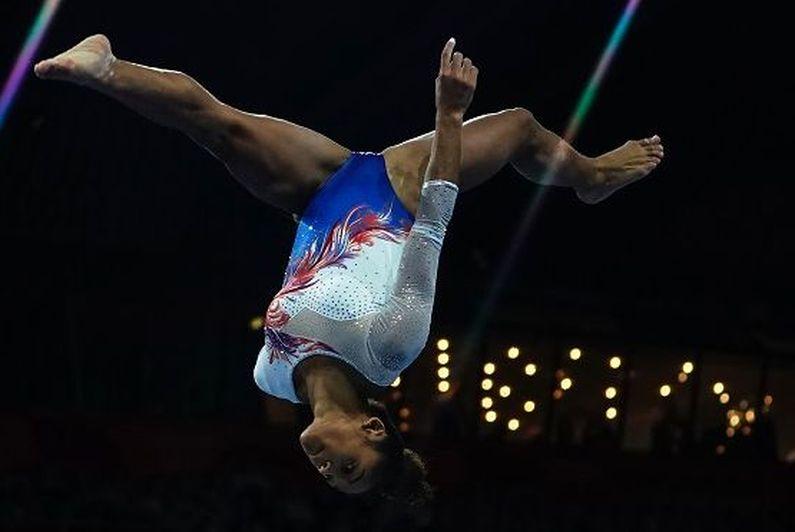 La gymnaste martiniquaise Mélanie De Jesus Dos Santos revient bredouille des Mondiaux de Stuttgart
