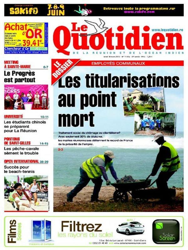 Une Quotidien 18 mars