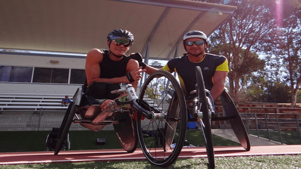 Pierre Fairbank et Nicolas Brignone à Canberra en 2014. Handisport