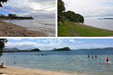La baie des Citrons, la plage mondorienne de la salle des communautés, et la plage de Nouré à Dumbéa avant la fermeture à la baignade.