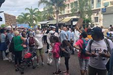 Manifestation anti-vaccin covid et anti-masque