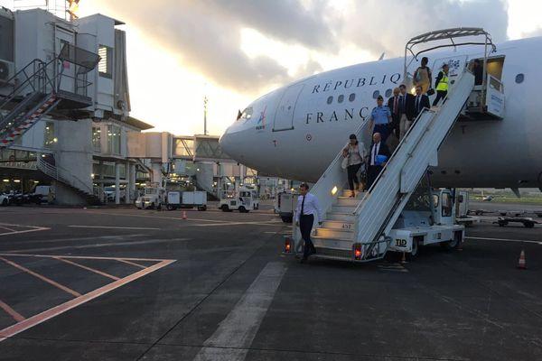 Arrivée Macron Guadeloupe
