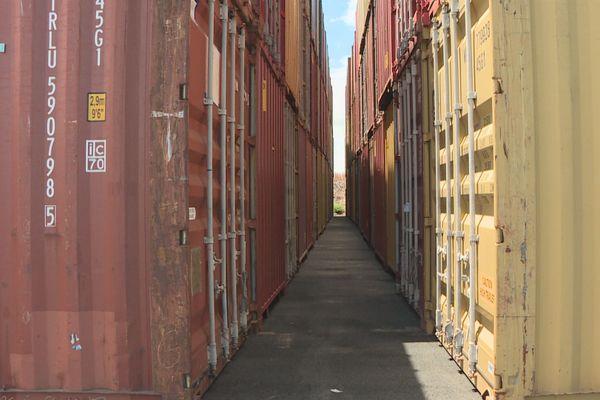 Evacuation des conteneurs vides