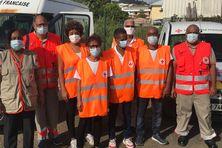 L'équipe de la Croix Rouge Martinique au Robert.