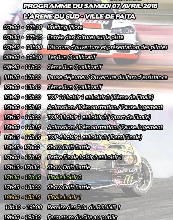 Programme première manche du King of drift 2018