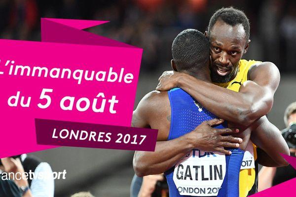 "Gatlin éteint ""la foudre"" Bolt, l'immanquable du samedi 5 août"