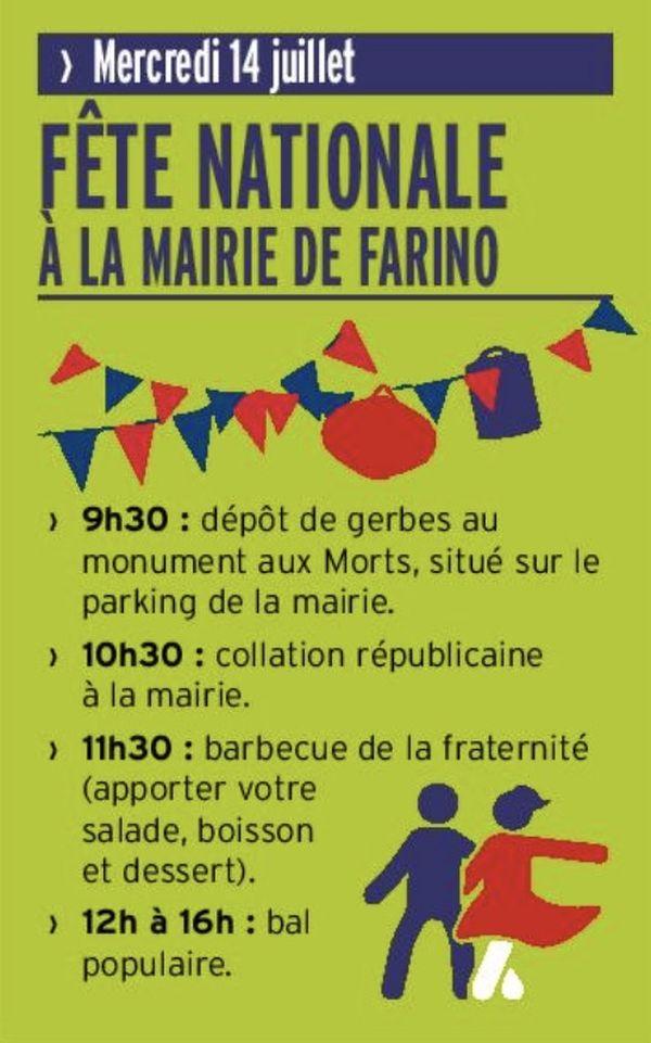 Affiche 14 juillet Farino