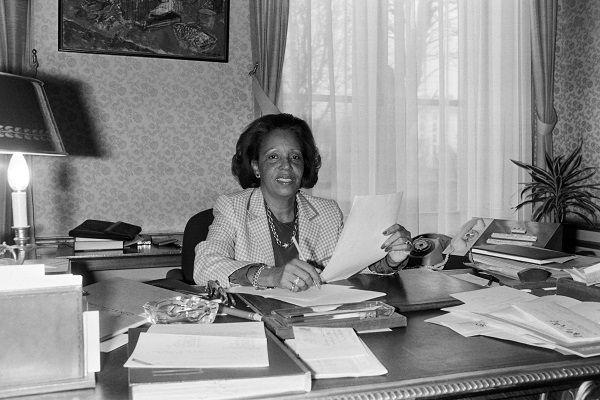 Lucette Michaux-Chevry, secrétaire d'Etat chargée de la Francophonie en 1986