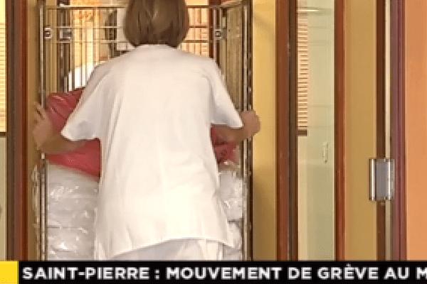 Grève à la Maison d'accueil spécialisée de Saint-Pierre