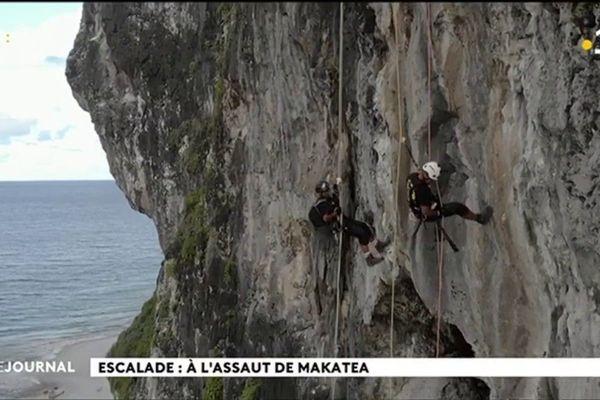 Escalade : à l'assaut de Makatea