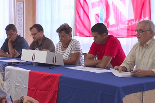 Conférence de presse du Front National de Nouvelle-Calédonie