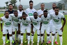 Le Club Franciscain lors des 32es de finale de la coupe de France en Guyane le 30 janvier 2021.