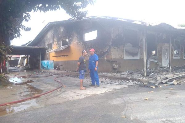 Incendie magasin à Tubuai