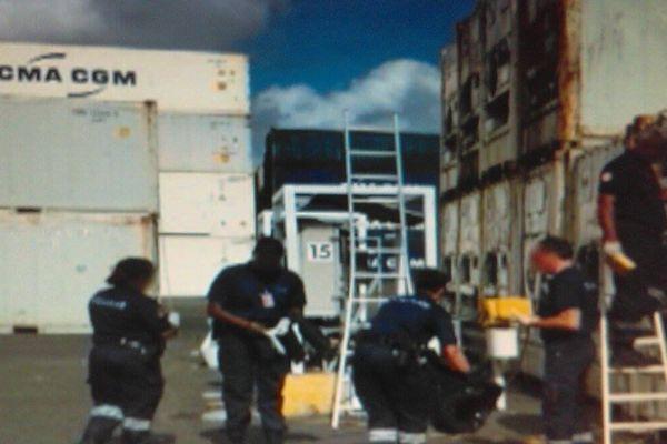 saisie de drogue sur le port de Jarry
