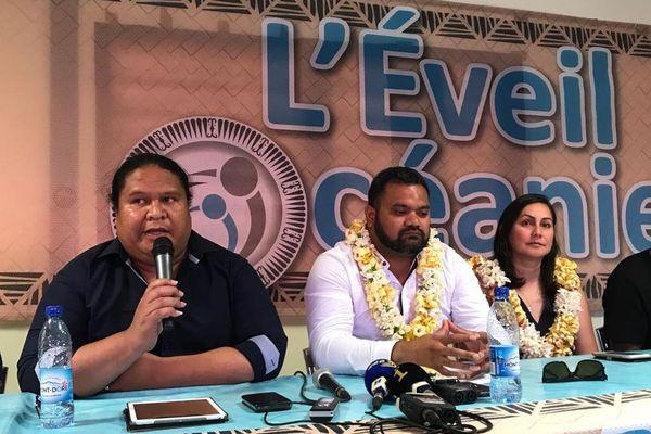 Présentation des candidats Eveil océanien dans le Grand Nouméa, Petelo Sao, Veylma Falaeo et Milakulo Tukumuli, 17 janvier 2020