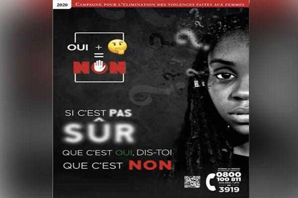 Affiche 21e campagne de lutte contre les violences faites aux femmes